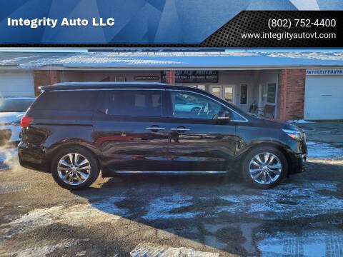 2016 Kia Sedona for sale at Integrity Auto LLC - Integrity Auto 2.0 in St. Albans VT