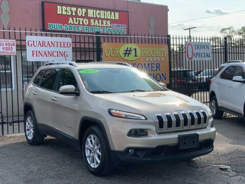 2015 Jeep Cherokee for sale at Best of Michigan Auto Sales in Detroit MI