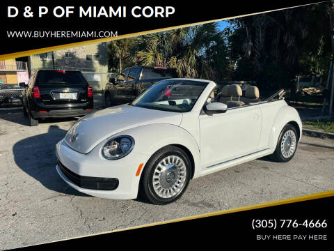 2014 Volkswagen Beetle Convertible for sale at D & P OF MIAMI CORP in Miami FL