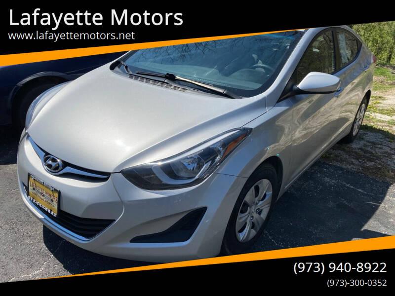 2016 Hyundai Elantra for sale at Lafayette Motors in Lafayette NJ