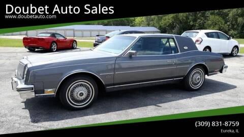 1985 Buick Riviera for sale at Doubet Auto Sales in Eureka IL