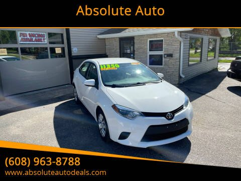 2014 Toyota Corolla for sale at Absolute Auto in Baraboo WI