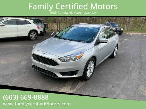 2016 Ford Focus for sale at Family Certified Motors in Manchester NH