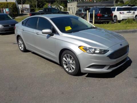2017 Ford Fusion Hybrid for sale at RTE 123 Village Auto Sales Inc. in Attleboro MA