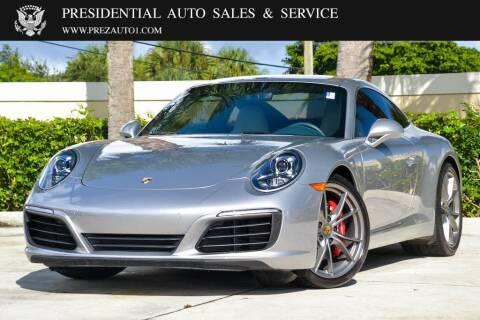 2018 Porsche 911 for sale at Presidential Auto  Sales & Service in Delray Beach FL