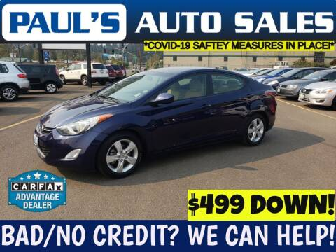 2013 Hyundai Elantra for sale at Paul's Auto Sales in Eugene OR