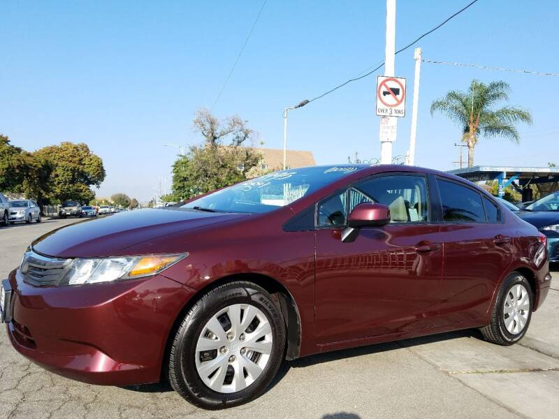 2012 Honda Civic for sale at Olympic Motors in Los Angeles CA