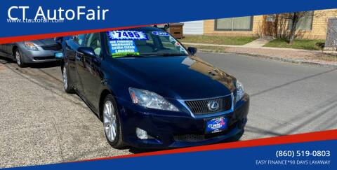 2009 Lexus IS 250 for sale at CT AutoFair in West Hartford CT