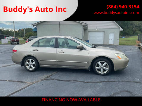 2003 Honda Accord for sale at Buddy's Auto Inc in Pendleton SC