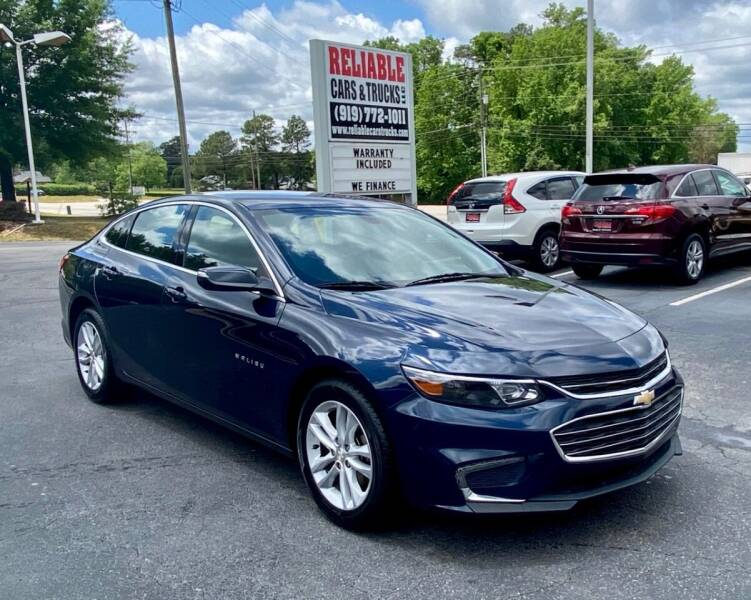 2018 Chevrolet Malibu for sale at Reliable Cars & Trucks LLC in Raleigh NC