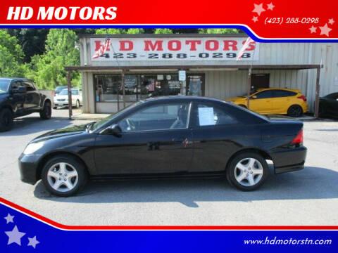 2005 Honda Civic for sale at HD MOTORS in Kingsport TN