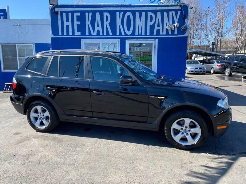 2007 BMW X3 for sale at The Kar Kompany Inc. in Denver CO
