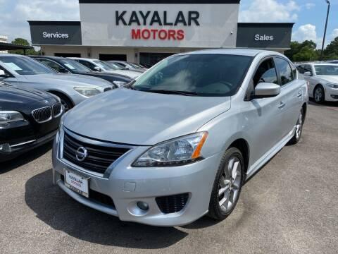 2014 Nissan Sentra for sale at KAYALAR MOTORS in Houston TX
