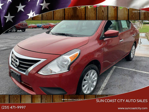 2018 Nissan Versa for sale at Sun Coast City Auto Sales in Mobile AL