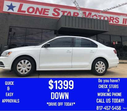 2016 Volkswagen Jetta for sale at LONE STAR MOTORS II in Fort Worth TX