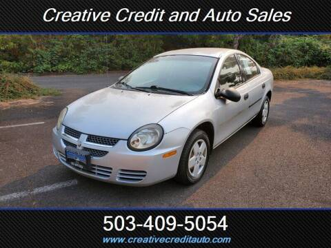 2003 Dodge Neon for sale at Creative Credit & Auto Sales in Salem OR