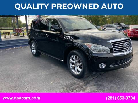 2013 Infiniti QX56 for sale at QUALITY PREOWNED AUTO in Houston TX