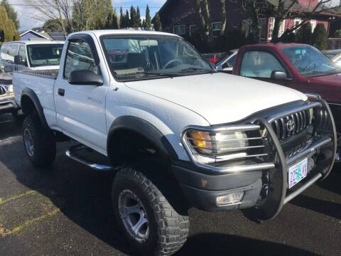 2002 Toyota Tacoma for sale at Chuck Wise Motors in Portland OR