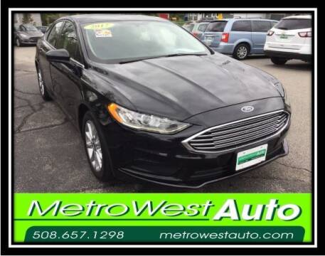 2017 Ford Fusion for sale at Metro West Auto in Bellingham MA
