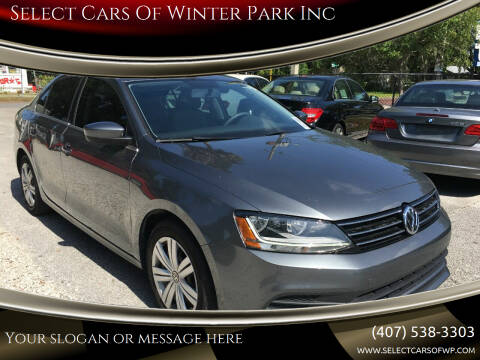 2017 Volkswagen Jetta for sale at Select Cars Of Winter Park Inc in Orlando FL
