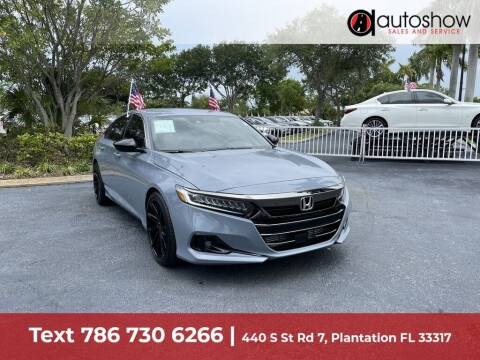 2021 Honda Accord for sale at AUTOSHOW SALES & SERVICE in Plantation FL