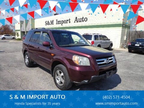2008 Honda Pilot for sale at S & M IMPORT AUTO in Omaha NE