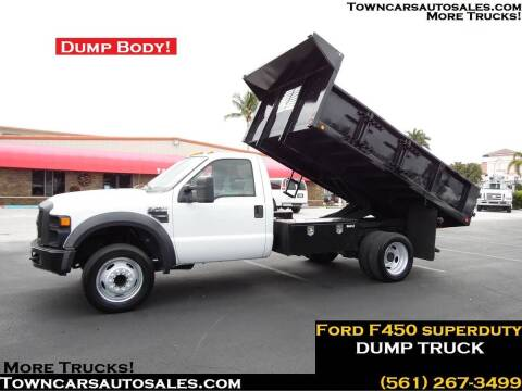 2010 Ford F-450 Super Duty for sale at Town Cars Auto Sales in West Palm Beach FL
