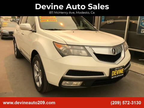 2011 Acura MDX for sale at Devine Auto Sales in Modesto CA