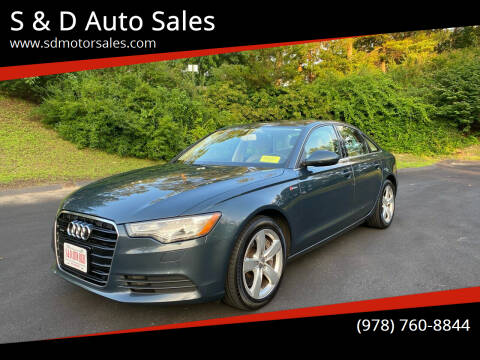 2012 Audi A6 for sale at S & D Auto Sales in Maynard MA