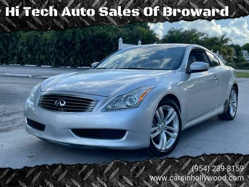 2010 Infiniti G37 Coupe for sale at Hi Tech Auto Sales Of Broward in Hollywood FL