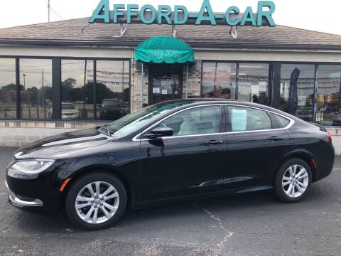 2016 Chrysler 200 for sale at Afford-A-Car in Dayton/Newcarlisle/Springfield OH