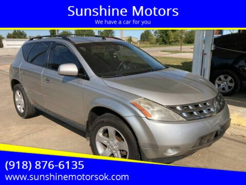 2005 Nissan Murano for sale at Sunshine Motors in Bartlesville OK