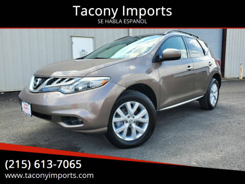 2014 Nissan Murano for sale at Tacony Imports in Philadelphia PA