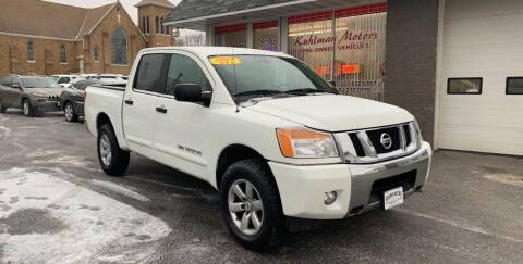 2013 Nissan Titan for sale at KUHLMAN MOTORS in Maquoketa IA