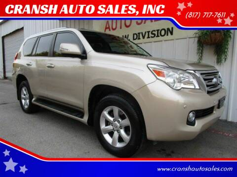 2011 Lexus GX 460 for sale at CRANSH AUTO SALES, INC in Arlington TX