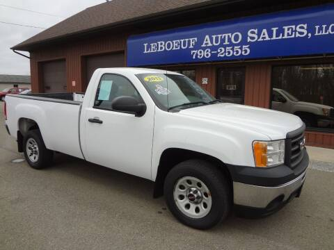 2013 GMC Sierra 1500 for sale at LeBoeuf Auto Sales in Waterford PA