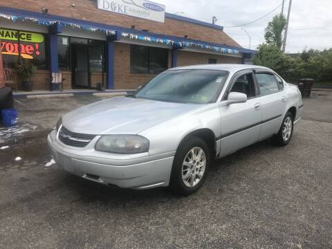 2004 Chevrolet Impala for sale at Duke Automotive Group in Cincinnati OH
