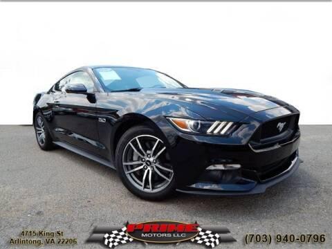 2015 Ford Mustang for sale at PRIME MOTORS LLC in Arlington VA