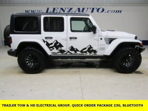 2018 Jeep Wrangler Unlimited for sale at LENZ TRUCK CENTER in Fond Du Lac WI