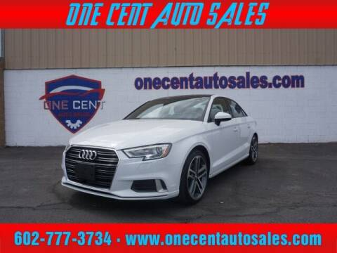 2018 Audi A3 for sale at One Cent Auto Sales in Glendale AZ