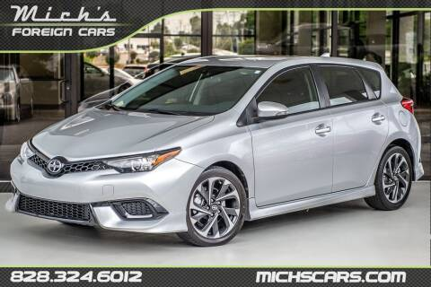 2016 Scion iM for sale at Mich's Foreign Cars in Hickory NC