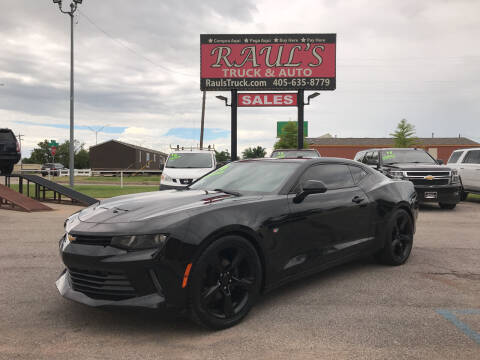 2016 Chevrolet Camaro for sale at RAUL'S TRUCK & AUTO SALES, INC in Oklahoma City OK