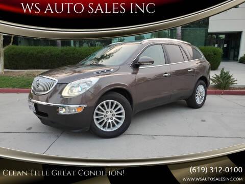 2010 Buick Enclave for sale at WS AUTO SALES INC in El Cajon CA