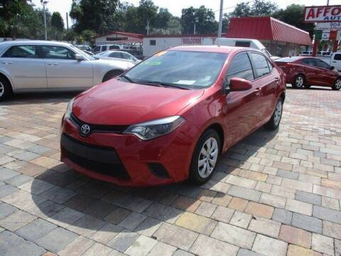 2014 Toyota Corolla for sale at Affordable Auto Motors in Jacksonville FL