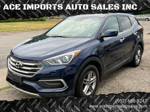 2018 Hyundai Santa Fe Sport for sale at ACE IMPORTS AUTO SALES INC in Hopkins MN