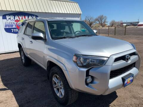 2016 Toyota 4Runner for sale at Praylea's Auto Sales in Peyton CO