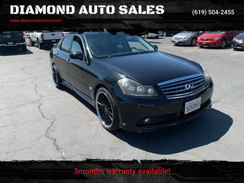 2007 Infiniti M45 for sale at DIAMOND AUTO SALES in El Cajon CA