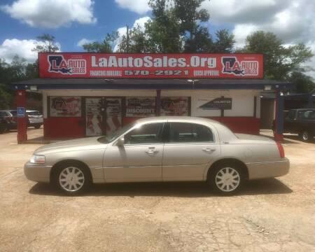 2010 Lincoln Town Car for sale at LA Auto Sales in Monroe LA