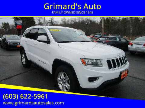 2014 Jeep Grand Cherokee for sale at Grimard's Auto in Hooksett, NH