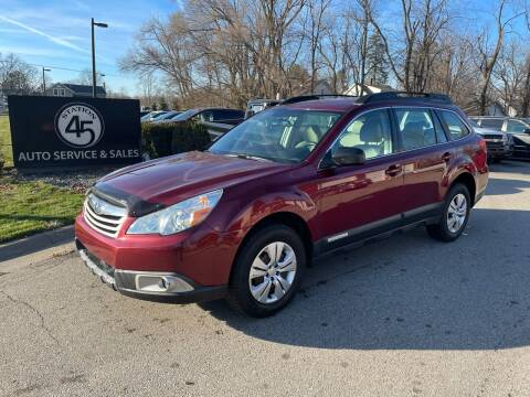 2011 Subaru Outback for sale at Station 45 Auto Sales Inc in Allendale MI